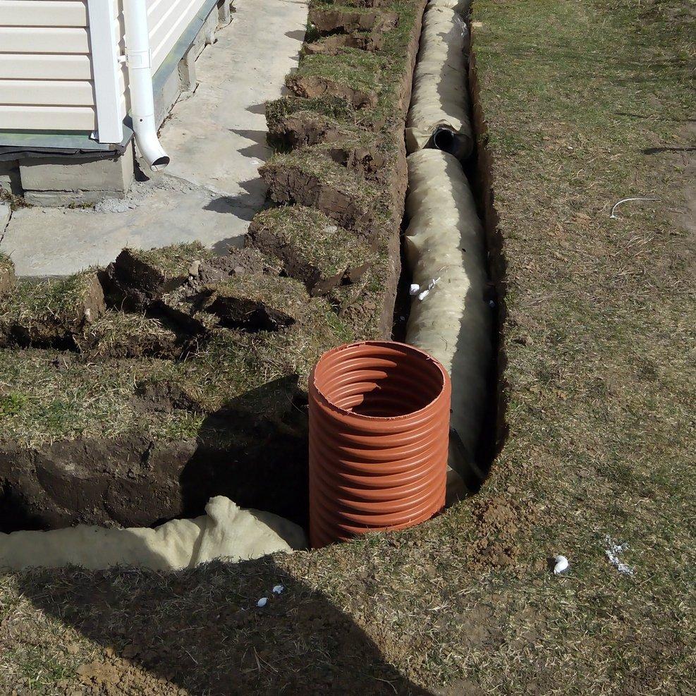 Пристенная дренажная канализация загородного дома