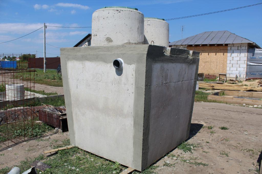 Септик из бетонного монолита