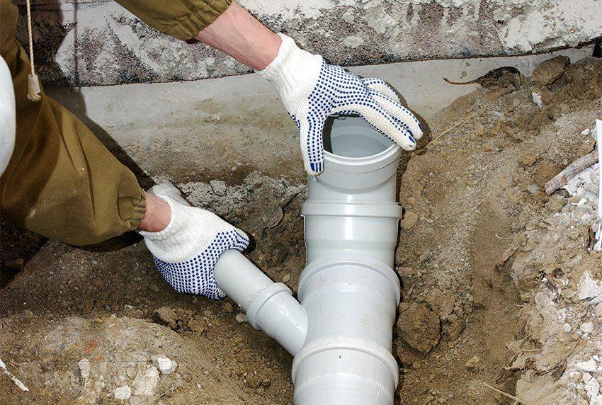 Диаметр трубопровода канализации