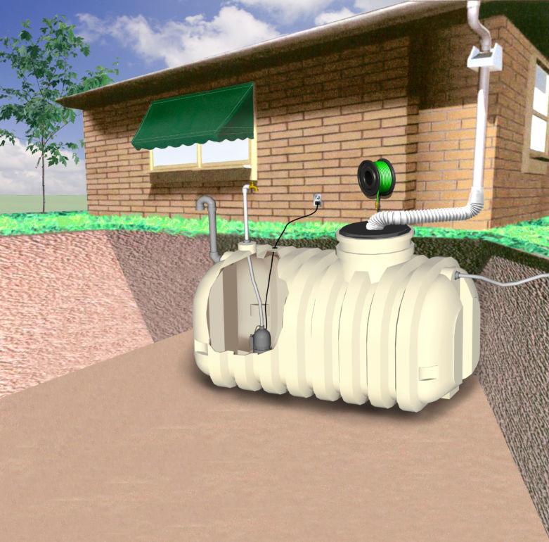 Накопительный водосборник для воды